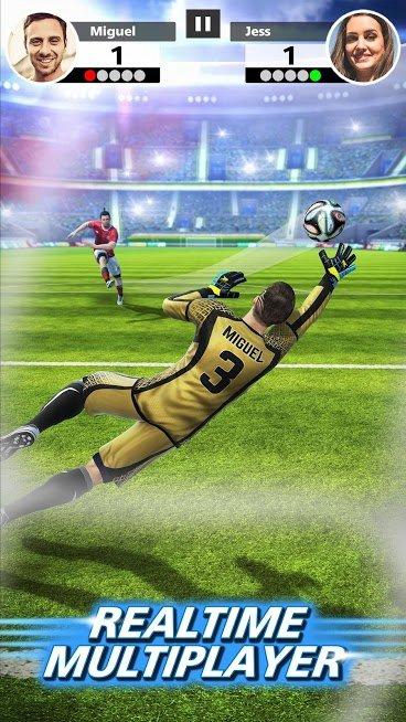 """دانلود Football Strike 1.20.0 – بازی آنلاین """"ضربه ایستگاهی"""" اندروید"""