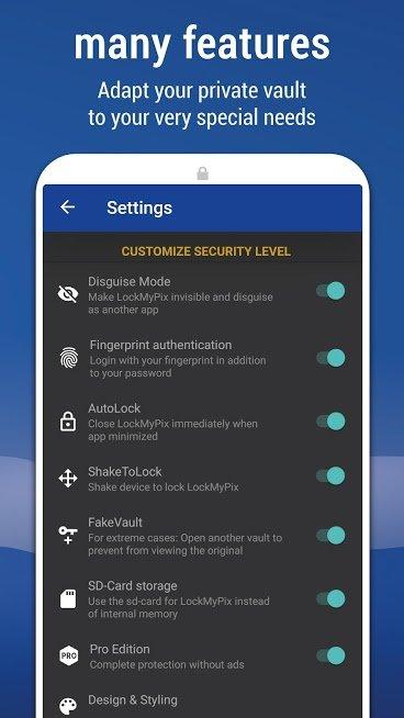 دانلود LockMyPix 4.5.1 – برنامه قفل و مخفی سازی عکس ها و فیلم ها اندروید
