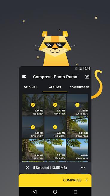"""دانلود Compress Photo Puma 1.0.19 – برنامه تغییر سایز عکس """"پیوما"""" اندروید"""