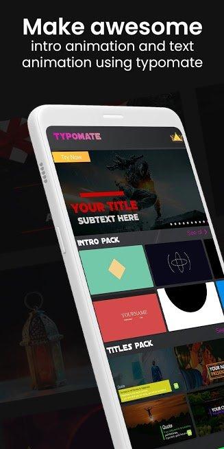 """دانلود Typomate Intro Maker 1.0.27 – برنامه ساخت اینترو """"تایپومیت"""" اندروید"""