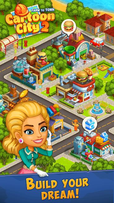 """دانلود Cartoon City 2 MOD 1.78 – بازی """"شهر کارتونی 2"""" برای اندروید"""