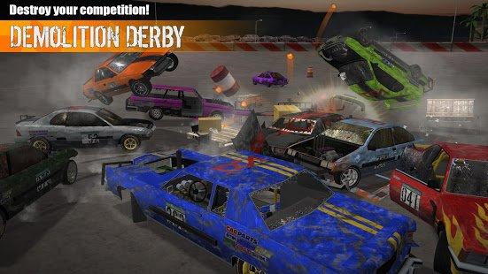 """دانلود Demolition Derby 3 1.1.017 – بازی """"مسابقه کوبنده 3"""" اندروید"""