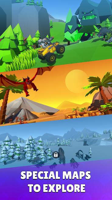 """دانلود Battle Cars: Monster Hunter 1.6 – بازی """"ماشین های جنگی"""" اندروید"""